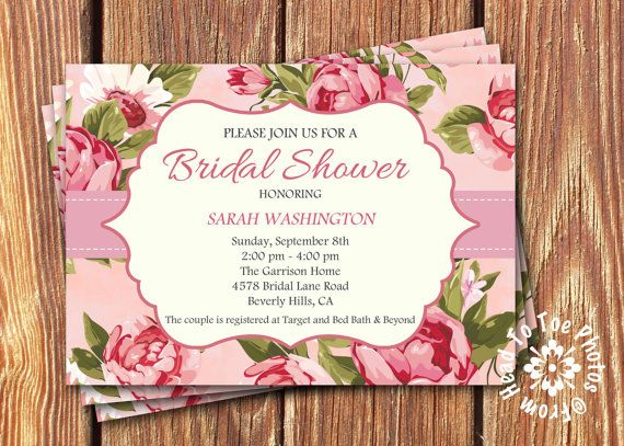 Shabby Chic Bridal Shower Invitations by FromHeadtoToeDesigns, $12.00