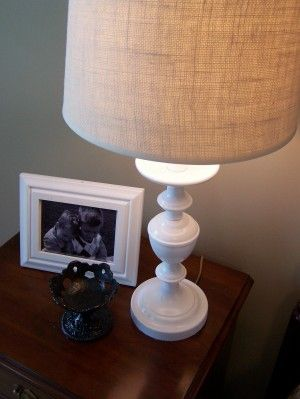 burlap lampshades DIY