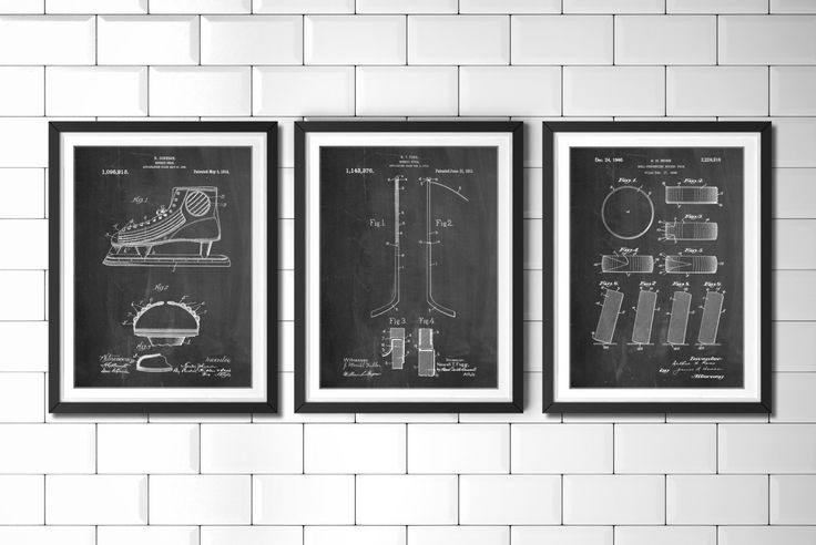 Ice Hockey Patent Poster Group of 3, Hockey Stick, Hockey Decor, Ice Skate, Hockey Puck, Hockey Wall Art, PP1164 by PatentPrints on Etsy https://www.etsy.com/listing/223203313/ice-hockey-patent-poster-group-of-3