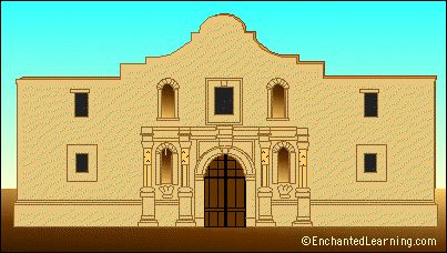 The Alamo From Enchanted Learning Tx History Pinterest
