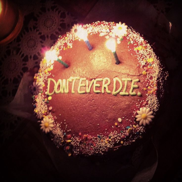 Inspirational dont ever die cake