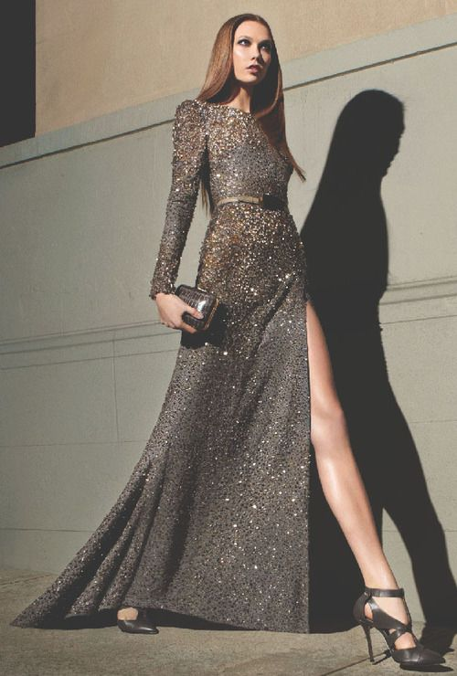 Elie Saab f/w 2012 rtw, karlie kloss for the campaign