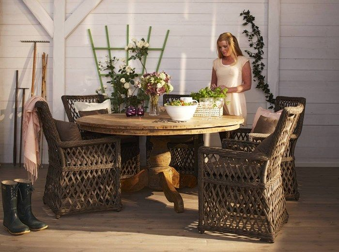 Woodstock trädgårdsbord i teak från Mio.