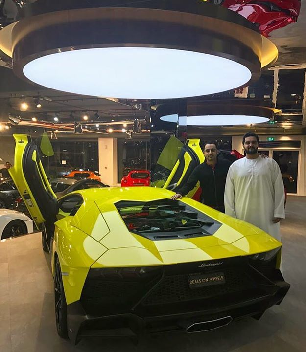 """With my brother Yousif Al Jaziri of Al Jaziri Motors congratulating him for their opening of the """"Worlds Biggest Lamborghini Dealership"""" in the UAE #worldsbiggest #lamborghinishowroomdubai #aljazirimotors"""