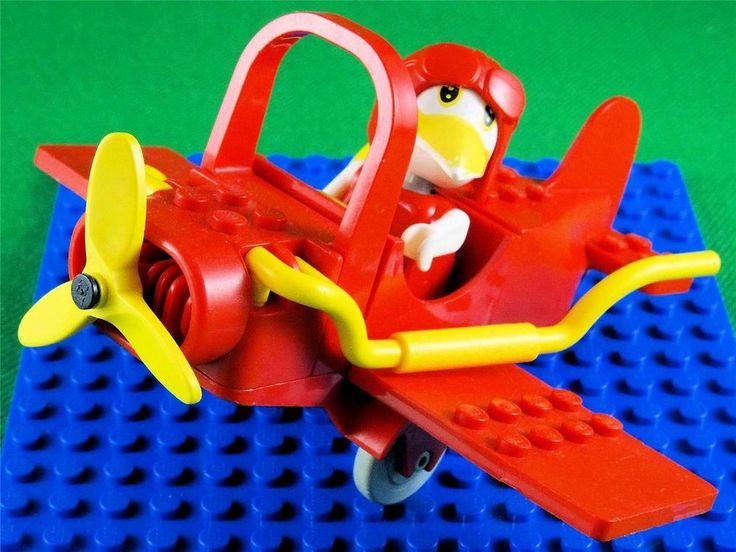 Vintage 1985 Lego Fabuland set 3625 - SANDY SEAGULL s AEROPLANE + Extra