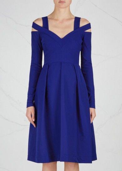 Cobalt open-shoulder dress - Dresses - All Clothing - Women