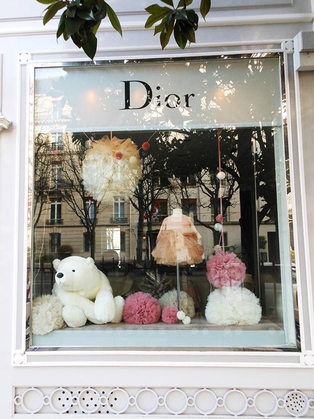 Dior Window Display - Paris (Breakfast from Paris)