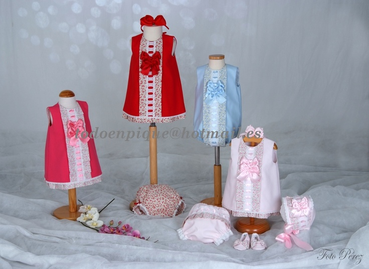 Spanish baby hand made clothes in my on line shop