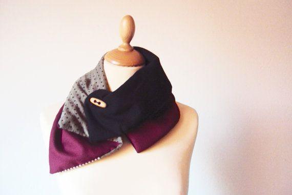 Scalda Collo in tessuto di lana felpa e Jersey di SoQuiet su Etsy #neckwarmer #handmade #scaldacollo