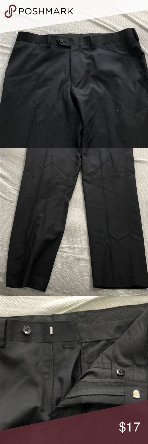 Bar III Slim Fit Dress Pants 100% wool. Great condition, worn once. Length from top to bottom is 38 inches, inseam is about 29 inches long, waist is 34 inches all around. Bar III Pants Dress