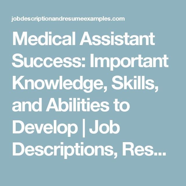 The 25+ best Medical assistant job description ideas on Pinterest - physical therapist job description