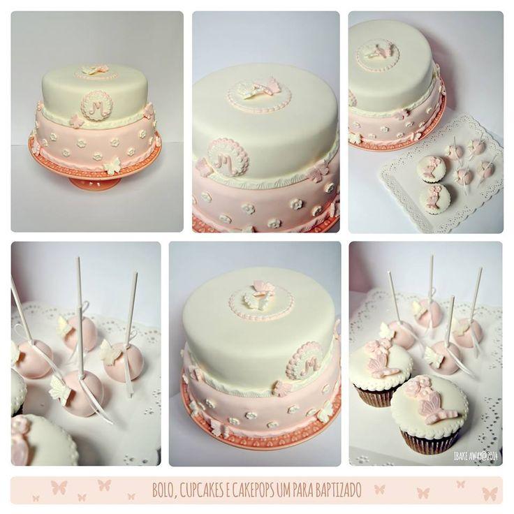 Bolo para um baptizado de uma princesinha // Christening cake for a little princess