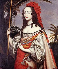 Sophia, dressed as an Indian. Painted by her sister, Louise Hollandine of the Palatinate