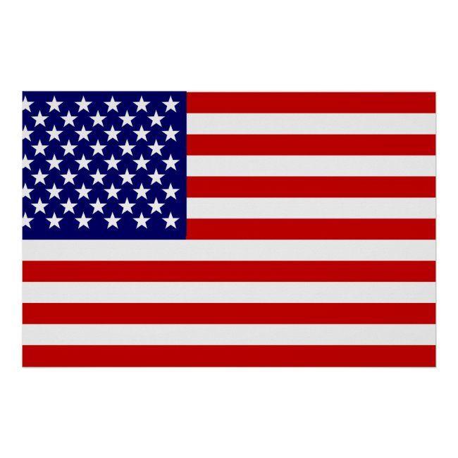 American Flag Poster Zazzle Com In 2020 American Flag Flag Flag Shop
