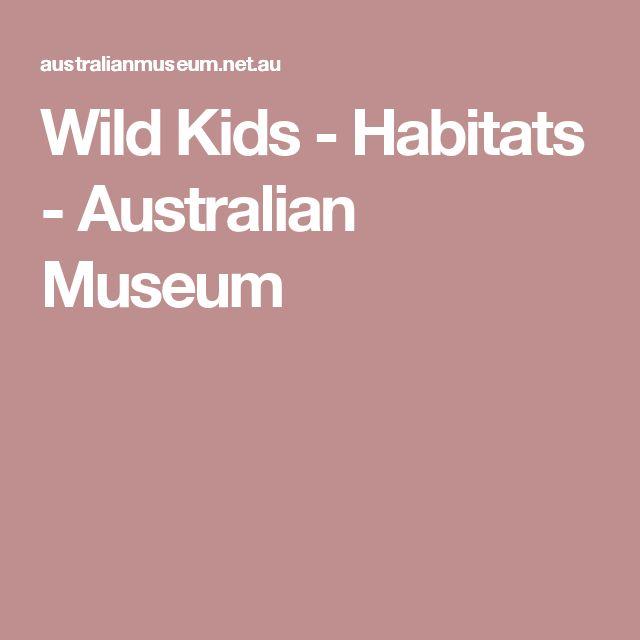 Wild Kids - Habitats - Australian Museum