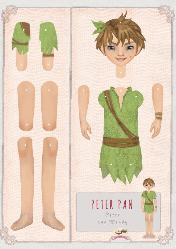 Peter Pan and Wendy Paper DollsKids' Craft set by Oxfordoll