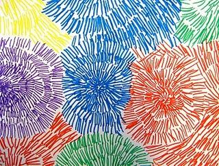 Spa painting idea: fireworks art