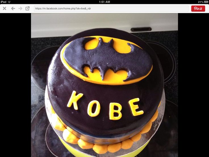 Batman themed cake for daycare 2014