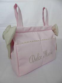 Bolso panera de polipiel rosa personalizado en camel...una preciosura!  Este bolso es un imprescindible en todas las wishlist por sus caract...