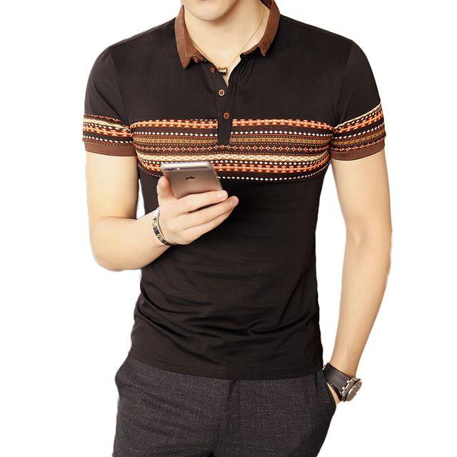 Nuevo 2017 del Verano de Los Hombres Ocasionales Adelgazan Británico Polos de manga Corta de Algodón Mezclas Anti-arrugas Camisa de Polo de Los Hombres ropa Masculina Camiseta 5XL