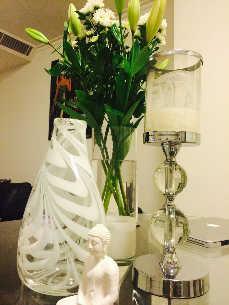 Hand blown glass and flowers...heavenly