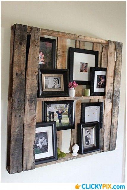 DIY Pallete Shelf - http://www.clickypix.com/diy-pallete-shelf/ diy palette shelf, diy shelf, pallete projects