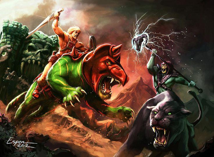 He-Man vs. Skeletor - MOTU - Espen Grundetjern
