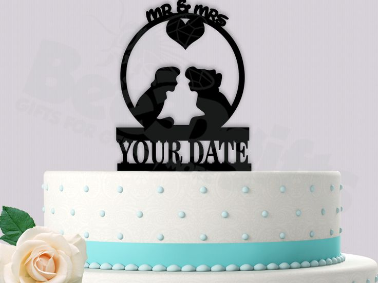 72 best wedding cake toppers images on pinterest wedding cake ariel and eric mr mrs with date event wedding cake topper disney arielanderic junglespirit Choice Image