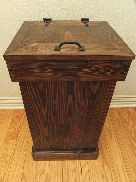 wooden trash cans - Google Search