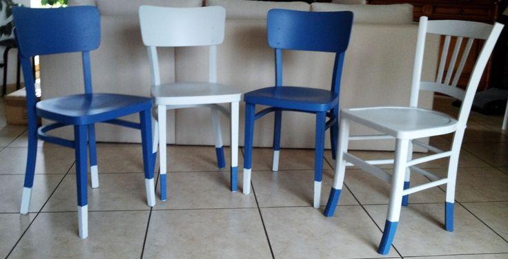 un bureau et des chaises relook s meubles pinterest. Black Bedroom Furniture Sets. Home Design Ideas