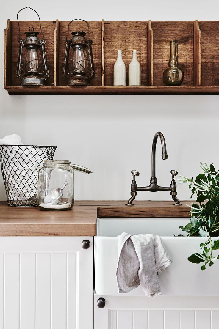 Compact stackable washer dryer french provincial kitchens small corner - A French Inspired Farmhouse In Victoria French Kitchencountry