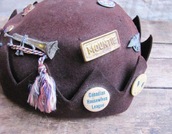 Vintage C 1940s Wool Felt Jughead Hat By Mousetrapvintage