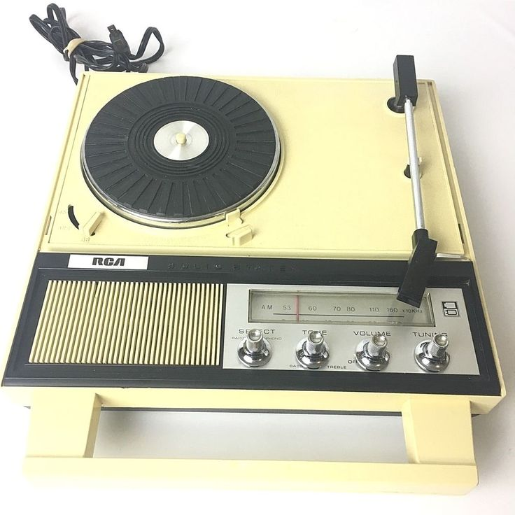 Rare Vtg RCA VPB1403 Portable Turntable Record Player AM Radio Suitcase 2-Speed #RCA