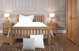 Modern Light Oak Bedroom furniture - Balmoral Collection