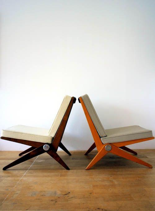 Scissors Chairs Pierre Jeanneret 1948-66