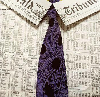 newspaper dress shirt