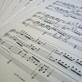 Vintage Sheet Music For Wedding Styling  by Delightful Living Weddings