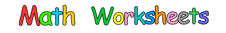 Free printable mathematics worksheets in English for ESL and native English speaking students around the world.