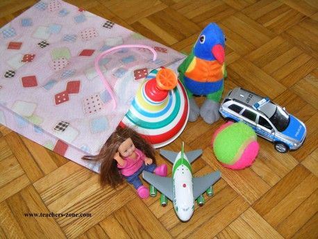 Pass the toy - speaking activity for kids
