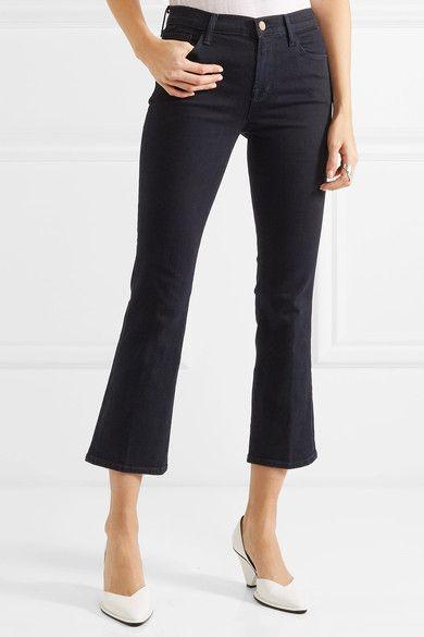 J Brand - Selena Cropped Mid-rise Flared Jeans - Dark denim - 32