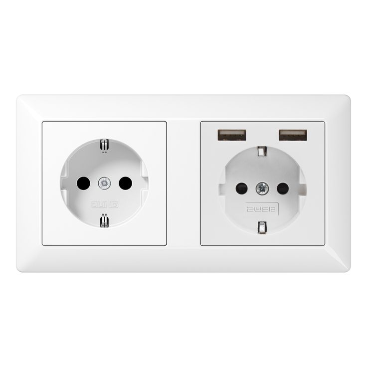 2U-JUNG-DUBBEL JUNG dubbel stopcontact met USB van 2USB-31
