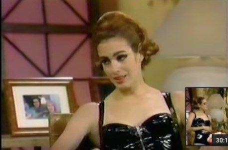 Sean Young as Catwoman on the Joan Rivers show. Sean wanted the role of Catwoman (it would go to Michelle Pfeiffer).