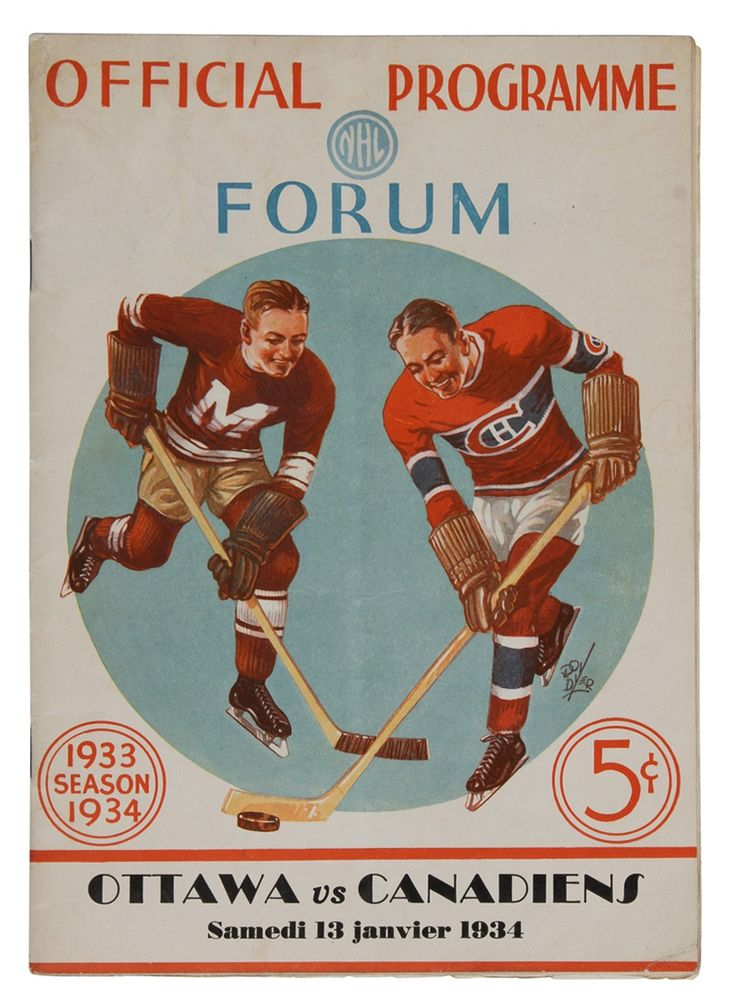 Ottawa visits the Forum to take on the Canadiens, January 1934.