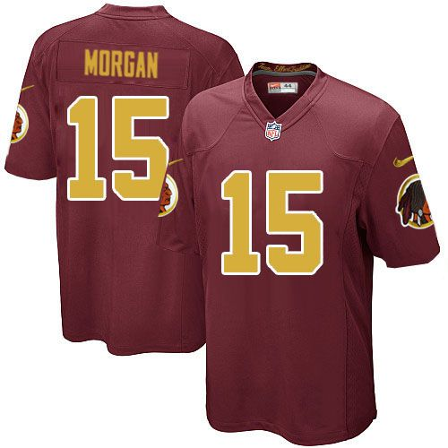 Youth Nike Washington Redskins #15 Josh Morgan Game Burgundy Red Number Alternate 80TH Anniversary NFL Jersey Sale