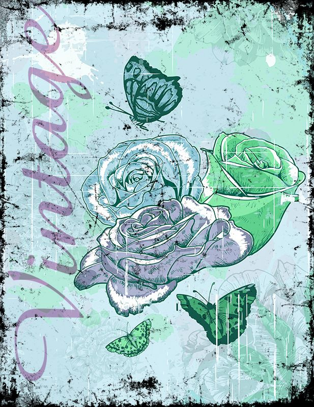 Vintage Roses (Version 03) 2014 Collection - © stampfactor.com