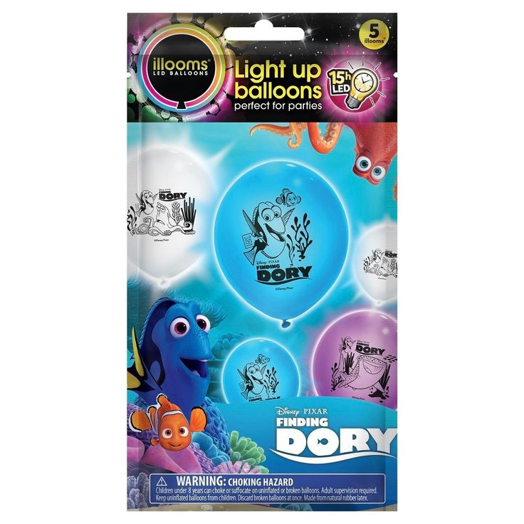 5ct illooms Led Light Up Finding Dory Balloon,