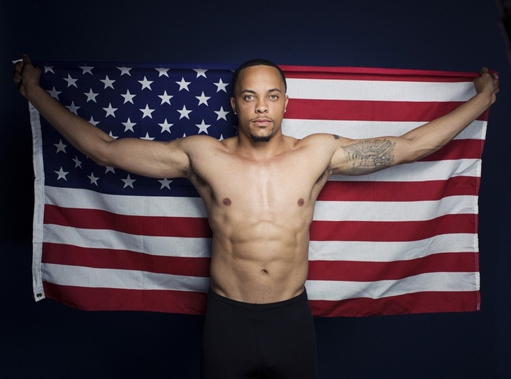 Olympic sprinter Wallace Spearmon, photographed at the Olympic Summit.London 2012, 2012 Olympics, American Flags, 2012 Media, Media Summit, London Olympics, Sprinter Wallace, Wallace Spearmon, American Athletic