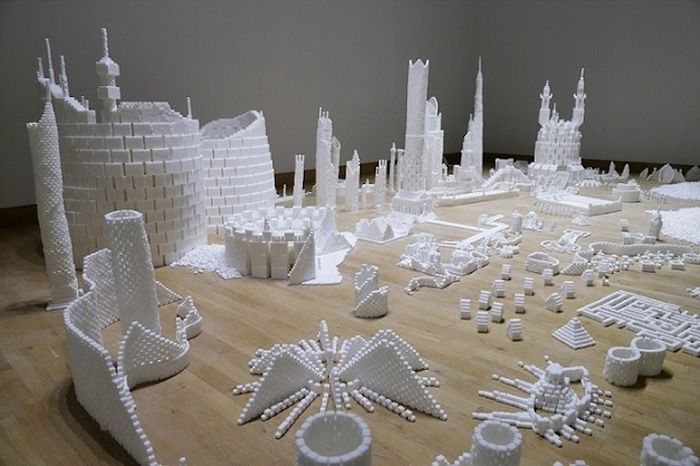 Build Small Cities Using Sugar Cubes Designs by Brendan Jamison