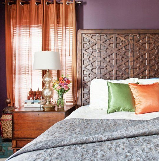 another shot of the headboard ...Shopping Sources & Color Ideas: A Dark, Cozy Bedroom — Professional Project