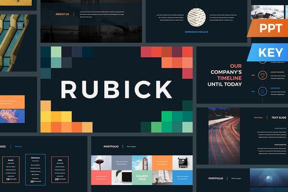 Rubick Presentation Template by SlideStation on @creativemarket